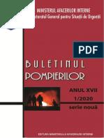 Buletinul pompierilor nr.1-  2020