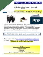 2011 SPAN Transition Workshops Flyer