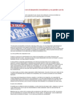 Cómo ser eficiente en el desarrollo inmobiliario y no perder con la inflación