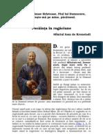 Sf Ioan de Kronstadt Pocainta in Rugaciune