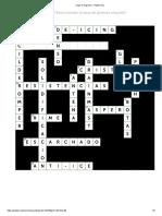 Jugar crucigrama - Puzzel.org