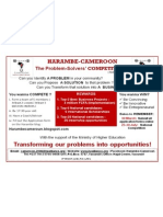 Harambe-Cameroon _ 2011 COMPETITION - Poster