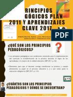 Principios pedagógicos plan 2011 y aprendizajes clave 2017
