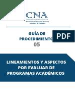 Guia Procedimiento 05 Lineamientos Aspectos Por Evaluar Para Programas Academicos 19102020 V3