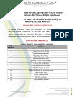 Edital Pss 0012021 – Dsei Yanomami Lista de Inscrições