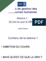 Presentation Cours Seance 1