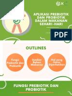 MATERI FILDZAH_Aplikasi prebiotik dan probiotik dalam makanan sehari-hari