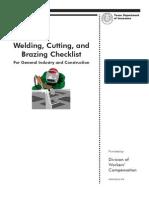 Welding, Cutting and Brazing Checklist