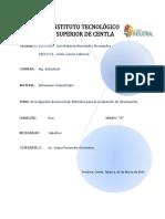 Tarea 6.- Investigación Documental Métodos Para Evaluar El Desempeño