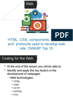 3.3 Coding for the web