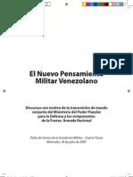 El Nuevo pensamiento Militar Venezolano