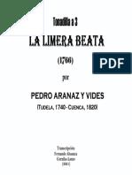 LA LIMERA BEATA (1766) (Pedro Aranaz y Vides). Fernando Abaunza