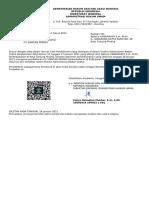 Surat Keterangan Terdaftar AHU-0008040-AH.01.14 Tahun 2021