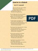 EBOOK H.P.LOVECRAFT - HALLOWE'EN IN A SUBURB