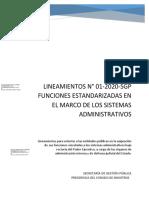 Lineamientos-funciones Estandarizadas Sistemas Administrativos