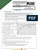 Devoir de Contrôle N°1 Lycée pilote - Physique - Bac Mathématiques (2011-2012) Mr fekiri