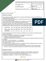 Devoir de Contrôle N°1 Lycée pilote - Sciences physiques - Bac Mathématiques (2012-2013) Mr Ahmed Kadri