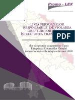 Lista Persoanelor Responsabile de Violarea Drepturilor Omului in Regiunea Transnistreana CtEDO 2020 1