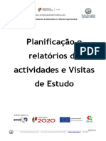 Capa de Planificação e relatórios de actividades e Visitas de Estudo