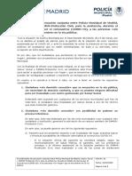 COVID-19 · Procedimiento de actuación conjunta entre Policía Municipal de Madrid, Samur Social y SAMUR-Protección Civil - Personas sin hogar en vía pública