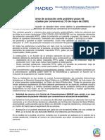 COVID-19 · Procedimiento de actuación ante posibles casos de pacientes infectados por Coronavirus (13 de mayo de 2020)