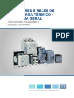 WEG Contatores e Reles de Sobrecarga Termico Panorama Geral 50040226 Pt