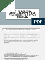 1.7. el derecho administrativo y sus relaciones con otras ciencias