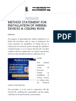 METHOD STATEMENT FOR INSTALLATION OF WIRING DEVICES & CEILING ROSE – Method Statement HQ
