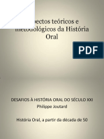 Aspectos Teóricos e Metodológicos Da História Oral