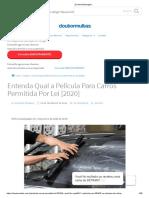 Entenda Qual a Película Para Carros Permitida Por Lei [2020]
