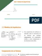 PATRONES Y MODELOS DE ARQUITECTURA (1)