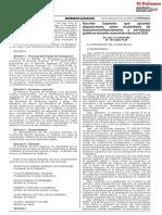 DS 199-2020-PCM Disposiciones Sobre Neutralidad