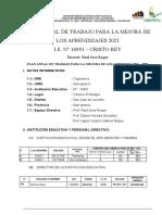 PAT -2021  CRISTO REY EL MILAGRO