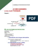 Cours de Toxicologie Analytique en Environnement Et Santé -13-1