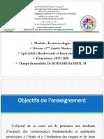 Cours Ecotoxicologie M1 Biodivercité Mr. Kouadri S