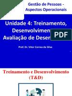 Unidade 4 - Treinamento, Desenvolvimento e Avaliação de Desempenho