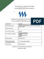 Attribution Definitive de Marche Prestations d Ingenierie Pour Suivi Et Du Controle Des Travaux de Realisations Des Lignes 225 Kv Entre Nouakchott Et Tobene Senegal Et Des Postes Associes