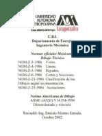 Normas Oficiales  Dibujo Tecnico