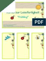 Lesekarte Frühling