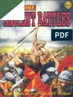 Warhammer Ancient Battles - Core Rule Book