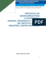 PROTOCOLO BIOSEGURIDAD - ITI CDB 2021