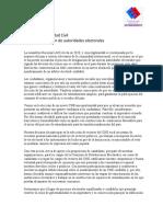 Sociedad Civil postulaciones candidatos al CNE
