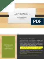 ATIVIDADE 1 Patologia geral FARMÁCIA  -  Modo de Compatibilidade