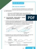 CAPITULO 3 - METALDECK SOBRE VIGAS DE CONCRETO