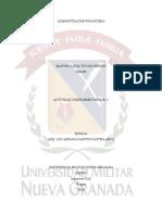 ACTIVIDAD COMPLEMENTARIA No. 2 DE ADMINISTRACION FINANCIERA