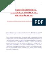 APROXIMACIÓN HISTÓRICA, IDEOLÓGICA Y TEMÁTICA A LA PSICOLOGÍA SOCIAL 5-20 ...