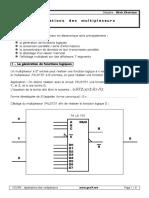 Applications Des Multiplexeurs