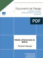 Estado y Democracia en Bolivia