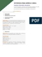 VALORES DE REFERENCIA PARA QUÍMICA CLINICA