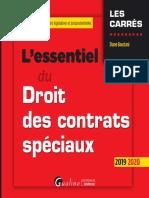 @SciencesJuridiques L'Essentiel Du Droit Des Contrats Spéciaux